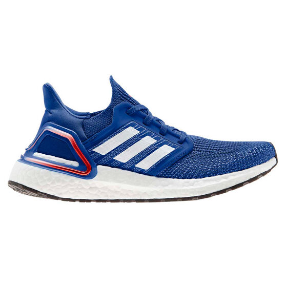 adidas Ultraboost 20 Kids Running Shoes, Blue/Red, rebel_hi-res