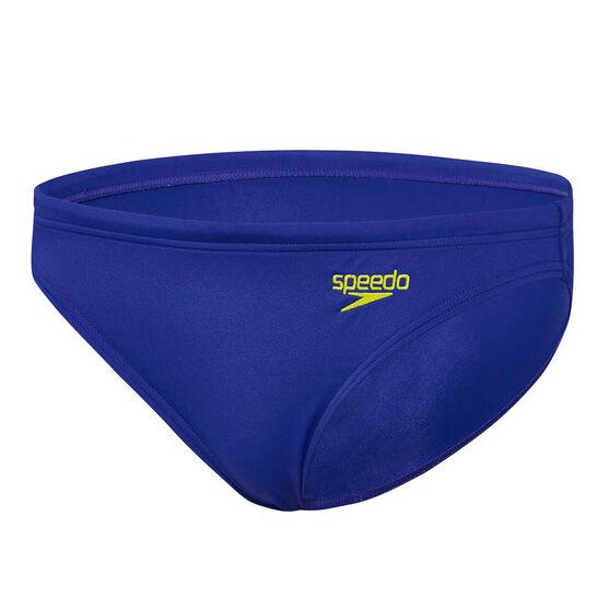 Speedo Womens Endurance Basic Swim Briefs, Blue, rebel_hi-res