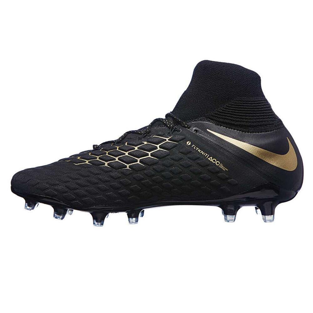 9b5772fde08f Nike Hypervenom Phantom III Elite Dynamic Fit Mens Football Boots Black    Gold US 11
