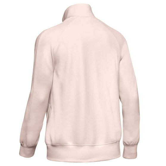 Under Armour Womens UA Double Knit Track Jacket, Pink, rebel_hi-res