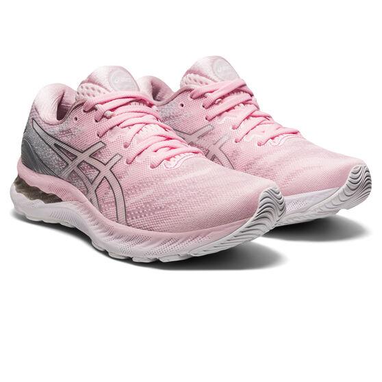 Asics GEL Nimbus 23 Womens Running Shoes, Pink/Silver, rebel_hi-res