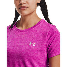 Under Armour Womens Tech Twist Tee, Pink, rebel_hi-res