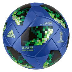 adidas Telstar 2018 Top Glider Soccer Ball Blue / Green 4, Blue / Green, rebel_hi-res