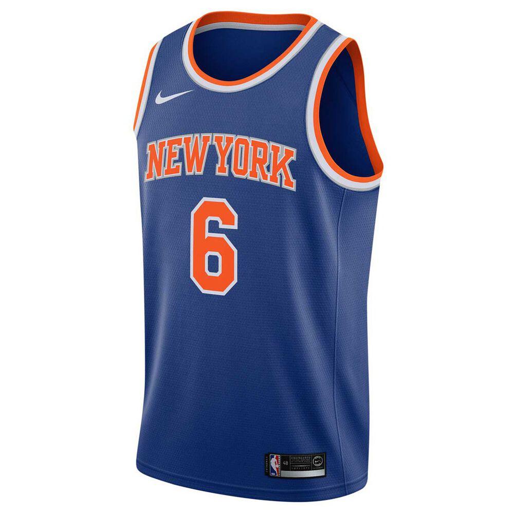 promo code 2753c e6167 Nike New York Knicks Kristaps Porzingis 2018 Mens Swingman Jersey Royal XXL
