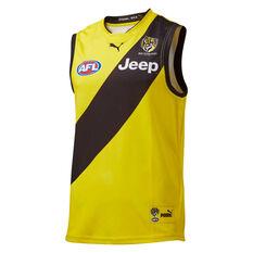 Richmond Tigers 2019 Men's Away Guernsey Black / Yellow S, , rebel_hi-res
