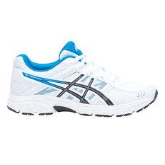 Asics Gel Contend 4 Kids Running Shoes White / Blue US 1, White / Blue, rebel_hi-res
