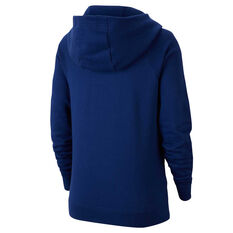Nike Womens Sportswear Essential Funnel Neck Hoodie Blue XS, Blue, rebel_hi-res