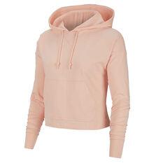 Nike Yoga Womens Jersey Cropped Hoodie Orange XS, Orange, rebel_hi-res