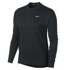 Nike Womens Element Running Top, Black, rebel_hi-res