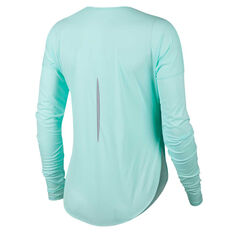 Nike Womens City Sleek Running Top Green XS, Green, rebel_hi-res