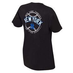 New York Yankees Mens Kardy Tee Black S, Black, rebel_hi-res