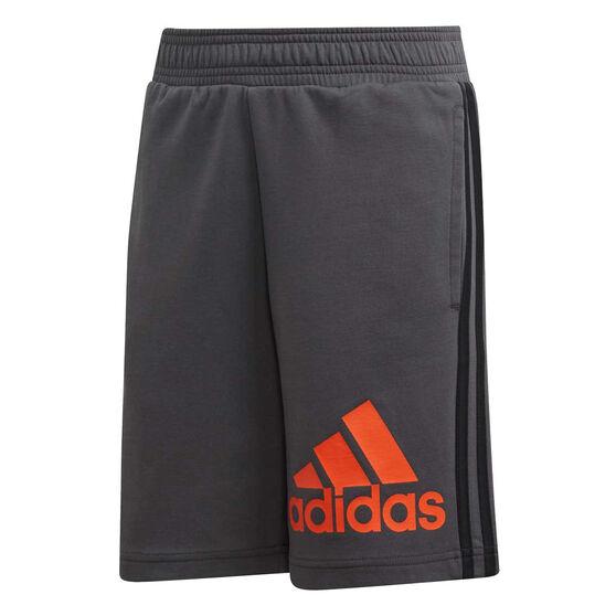 2525b49efad069 adidas Boys Must Haves Badge of Sport Shorts, Grey / Orange, rebel_hi-res