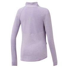 Ell & Voo Womens Amelia Quarter Zip Top Purple XS, Purple, rebel_hi-res