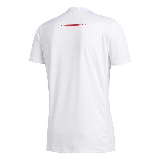 adidas Mens Own The Run Tee White M, White, rebel_hi-res