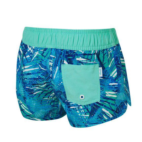 Tahwalhi Girls Take Me To The Tropics Board Shorts, Blue / White, rebel_hi-res