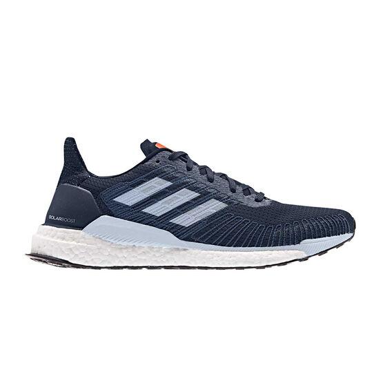 adidas Solar Boost Mens Running Shoes, Navy / Orange, rebel_hi-res