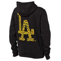 Majestic Womens LA Lakers Animal Duke Hoodie Black XS, Black, rebel_hi-res