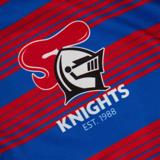 Newcastle Knights 2021 Mens Media Polo, Navy, rebel_hi-res