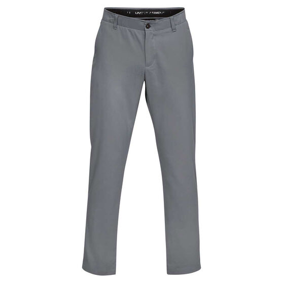 Under Armour Mens Showdown Tapered Golf Pants, Grey, rebel_hi-res