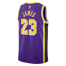 d95468aeba1 ... rebel hi Los Angeles Lakers LeBron James 2019 Mens Alternate Swingman  Jersey Yellow S