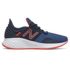 New Balance Fresh Foam Roav Kids Running Shoes Black/White US 4, Black/White, rebel_hi-res