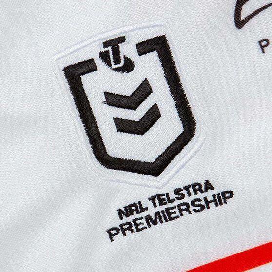Penrith Panthers 2020 Mens Away Jersey, White, rebel_hi-res