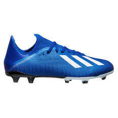 adidas X 19.3 Football Boots Blue / White US Mens 7 / Womens 8, Blue / White, rebel_hi-res