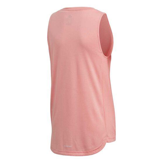 adidas Girls Bold Printed Training Tank, Pink / White, rebel_hi-res