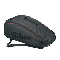Wilson Federer Team 6-Pack Tennis Bag Black / Red, , rebel_hi-res
