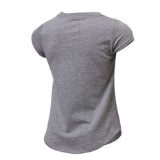 Nike Girls Swoosh Scribble Tee Grey 4, Grey, rebel_hi-res