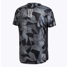 adidas Mens Own The Run Running Tee Grey S, Grey, rebel_hi-res