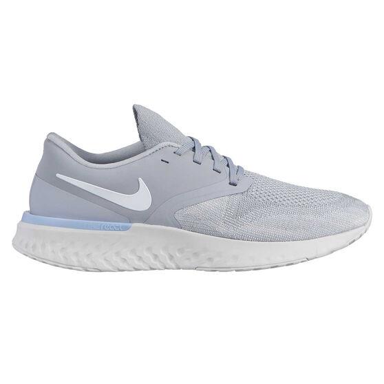 Nike Odyssey React 2 Mens Running Shoes, Grey / White, rebel_hi-res