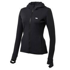 Running Bare Womens Bare The Elements Zip Jacket Black 8, Black, rebel_hi-res