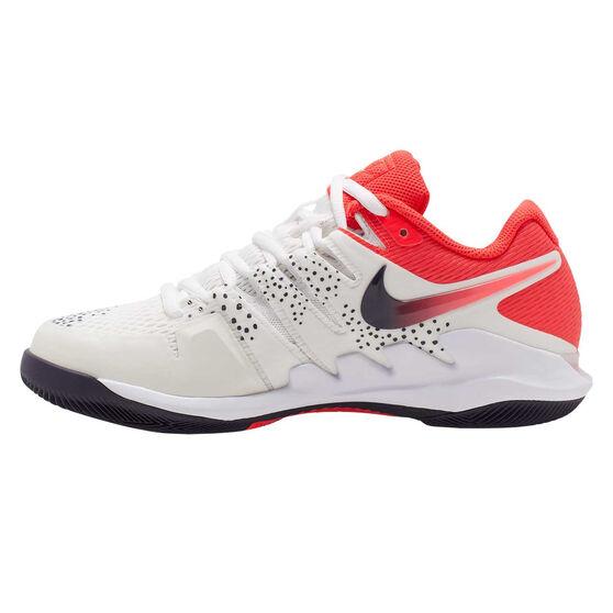 Nike Air Zoom Vapor X Womens Tennis Shoes, White / Red, rebel_hi-res