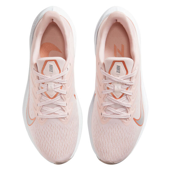 Nike Zoom Winflo 7 Womens Running Shoes, Pink/Red, rebel_hi-res