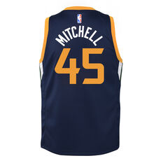 Nike Utah Jazz Donovan Mitchell 2019/20 Kids Icon Edition Swingman Jersey Navy S, Navy, rebel_hi-res