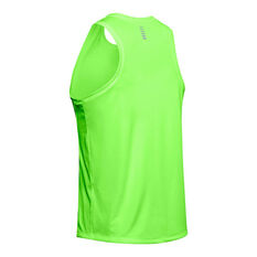Under Armour Mens Speed Stride Singlet Green S, Green, rebel_hi-res