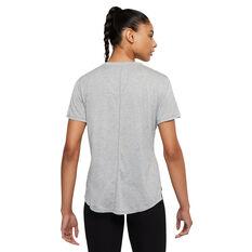 Nike Womens Dri-FIT One Standard Tee Grey XS, Grey, rebel_hi-res