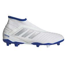 adidas Predator 19.3 Laceless Football Boots White / Silver US Mens 7 / Womens 8, White / Silver, rebel_hi-res