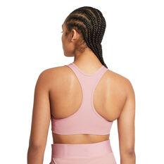 Nike Womens Swoosh Medium Support Sports Bra Pink XS, Pink, rebel_hi-res