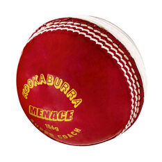 Kookaburra Menace 156g Cricket Ball Red/White 156g 156g, Red/White, rebel_hi-res