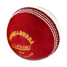 Kookaburra Menace 142g Cricket Ball Red/White 142g 142g, Red/White, rebel_hi-res