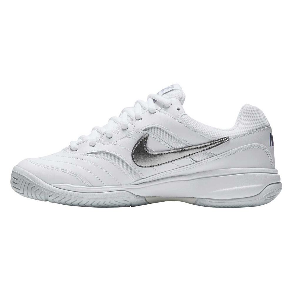 hot sale online 5e690 f0ce2 Nike Court Lite Womens Tennis Shoes White  Silver US 6, White  Silver,