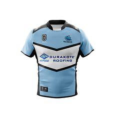 Cronulla-Sutherland Sharks 2019 Mens Home Jersey White / Blue S, White / Blue, rebel_hi-res