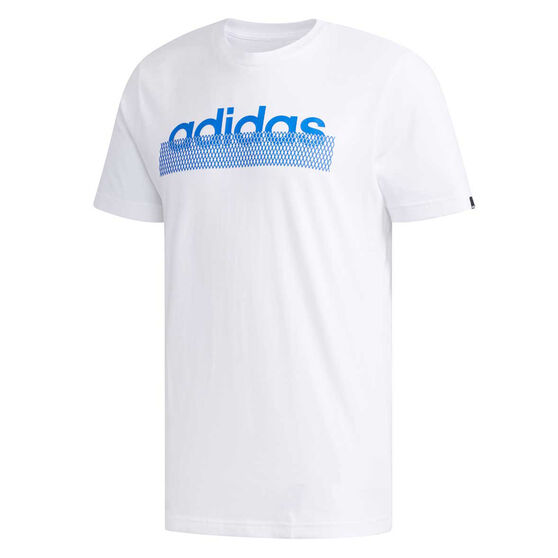 adidas Mens Grid Tee, White, rebel_hi-res