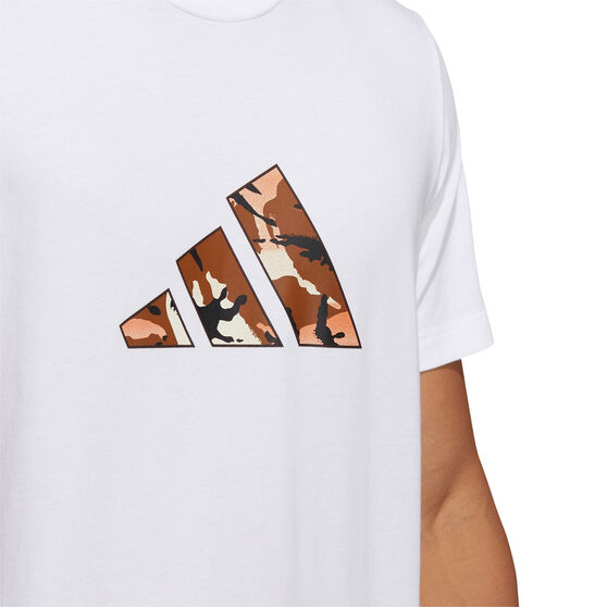 adidas Mens Graphic Badge of Sport Tee, White, rebel_hi-res