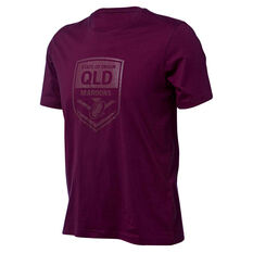 QLD Maroons State of Origin 2018 Mens Cotton Tee, , rebel_hi-res