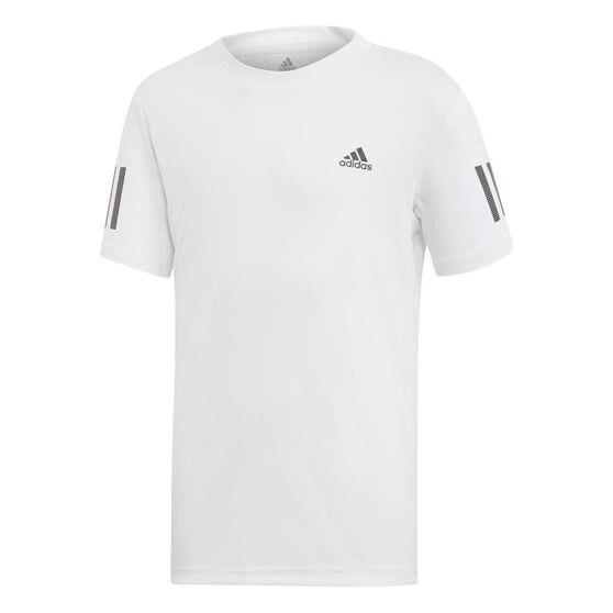 adidas Boys Club Tee, White / Black, rebel_hi-res