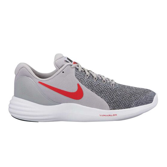 6d6c90aa030e2 Nike Lunar Apparent Boys Running Shoes Grey   White US 4