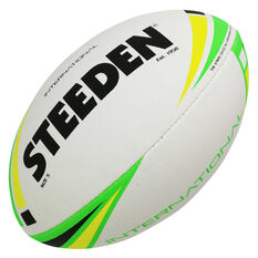 Steeden International Rugby League Ball White / Multi 4, White / Multi, rebel_hi-res